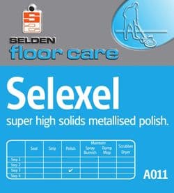 Selden Selexel Metalised Floor Polish - AO11 - 5 Ltr