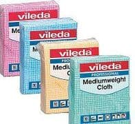 Vileda Medium Weight Cloths Pk of 10