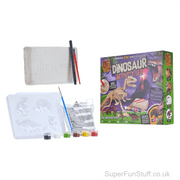 2 In 1 Dinosaur Play Set For Kids - Dino Dig & Paint