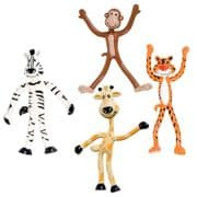 Bendy Jungle Zoo Animal Figurines - Set of 4