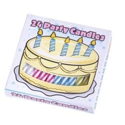 Birthday Cake Candles | 24 Pack | Essential Party Supplies