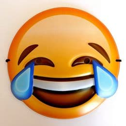 Crying Laughing Emoji Mask | Fancy Dress Party UK