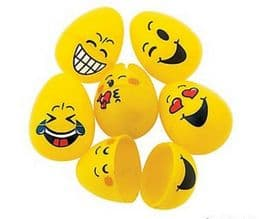Emoji Easter Egg Containers - Set of 6 Smileys   Kids Gift