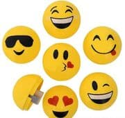 Emoji Pencil Sharpeners - Set of 6 Smileys