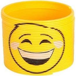 Emoji Slinky Toy - Cry Laughing Smiley | Kids Novelty Gift
