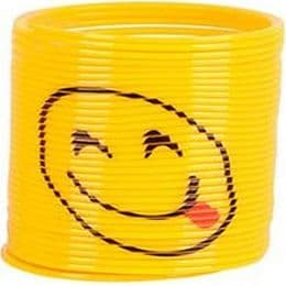 Emoji Slinky Toy - Tongue Out Smiley | Kids Novelty Gift