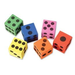 6 x Giant Foam Dice Toy   Low Cost Toys and Games