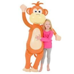 Giant Inflatable Monkey 5.5 Feet Tall | Blow Up Kids Party Toy