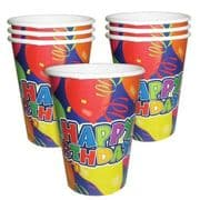 Happy Birthday Party Cups - Pack of 6