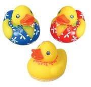 Hawaiian Luau Rubber Ducks x 3