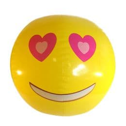 Emoji Beach Ball |Heart Eyes Face | Emoticon Inflatable