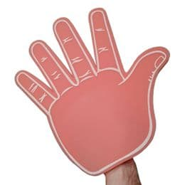 Giant High Five Foam Hands | Big Hand for Gigs, Festivals & Promotions | 7 Colours