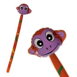 Monkey Head on Stick Large Inflatable (145cm) | Blow Up Jungle Animals