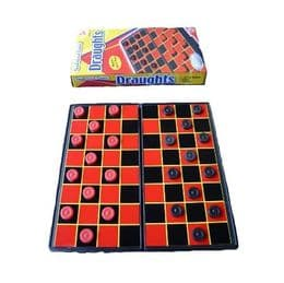 10 x Magnetic Travel Draughts Set | Indoor Family and Travel Games