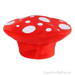 Red Mushroom Hat - Adult   Fancy Dress Party Accessory