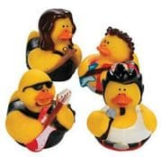 Rock Star Rubber Ducks x 4