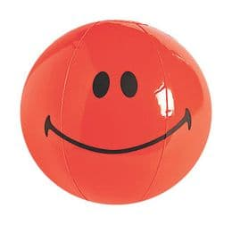 Smiley Face Inflatable Beach Ball - 4 Colours | Emoji