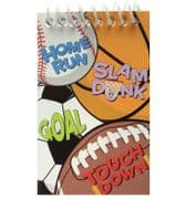 Sports Theme Notepads - Set of 4