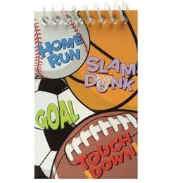 Sports Theme Notepads | Kid's Party Bag Gift