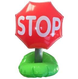 Stop Road Traffic Sign Inflatable | Novelty Blow Up Toys for Kids