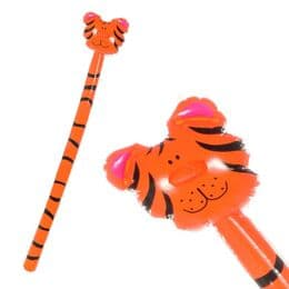 Tiger Head on Stick Inflatable (145cm) | Kids Themed Parties | Inflatable Animals