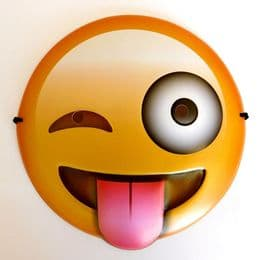 Tongue Out Emoji Mask Smiley | Smile Face Party Novelty