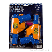 Twin Police Gun Set with Holsters