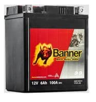 Banner AGM 50614 YTX7L-BS 12v 6Ah 100A Motorcycle Battery (YTX7L-BS) Buy Online from The Battery Shop