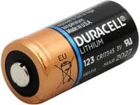 Duracell DL123 3v Lithium Battery (CR123A) Buy Online from The Battery Shop