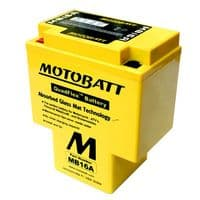 MB16A Motobatt AGM Motorcycle Battery 12v 19Ah 200CCA (HYB16A-A, HYB16A-AB) Buy Online from The Battery Shop
