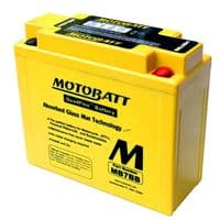 MB7BB Motobatt AGM Motorcycle Battery 12v 9Ah 150CCA (YB7B-B) Buy Online from The Battery Shop