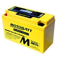 MB7U Motobatt AGM Motorcycle Battery 12v 6Ah 100CCA (YT7B-BS, YT7B-4) Buy Online from The Battery Shop