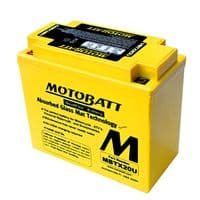 MBTX20U Motobatt AGM Motorcycle Battery 12v 21Ah 310CCA (YB16, YTX20, 12N16) Buy Online from The Battery Shop