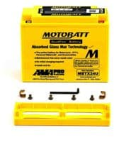 MBTX24U Motobatt AGM Motorcycle Battery 12v 25Ah 300CCA (YTX24HL-BS, Y50-N18L-A/2/3, Y50-N18-A/2 Buy Online from The Battery Shop