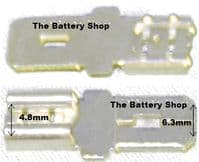 Terminal Converters - 4.8mm Female to 6.3mm Male From £4.17 EX VAT Buy Online from The Battery Shop