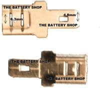 Terminal Converters - 6.3mm Female to 4.8mm Male From £4.17 EX VAT Buy Online from The Battery Shop