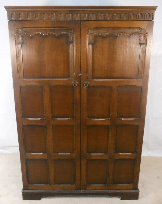 Antique Style Carved Hanging Wardrobe - SOLD