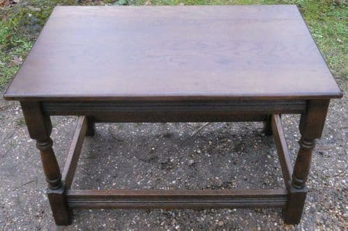Antique Style Dark Oak Coffee Table
