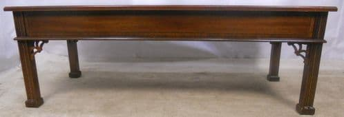 Chippendale Style Long Mahogany Coffee Table - SOLD
