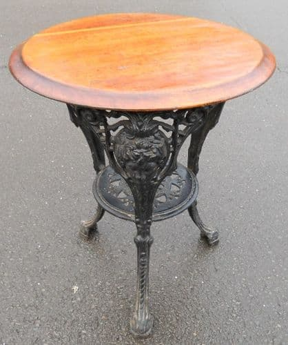 Circular Top Cast Iron Base Pub Table