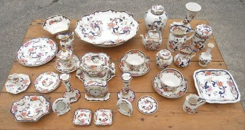 Collection of Mason's Ironstone Mandalay Pattern China