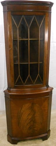 Double Bowfront Corner Cupboard, Antique Georgian Style