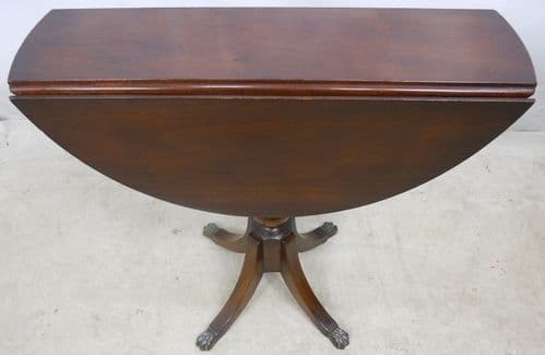 Dropleaf Pedestal Round Mahogany Coffee Table by Strongbow - SOLD
