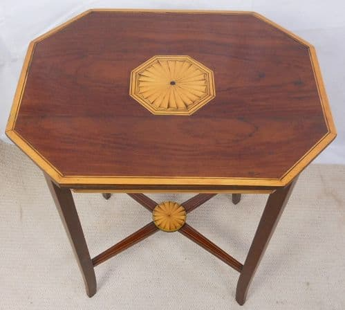 Edwardian Style Inlaid Mahogany Occasional Table - SOLD