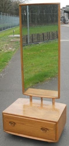 Ercol Light Elm Cheval Dressing Mirror