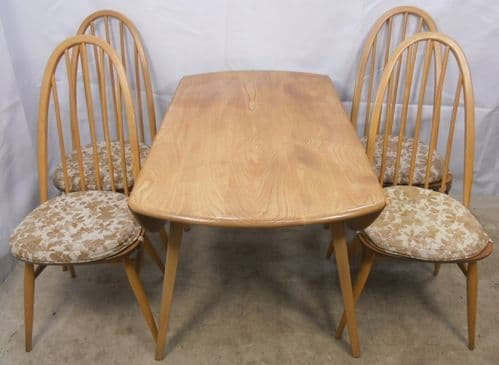 Four Light Ercol Dining Chairs