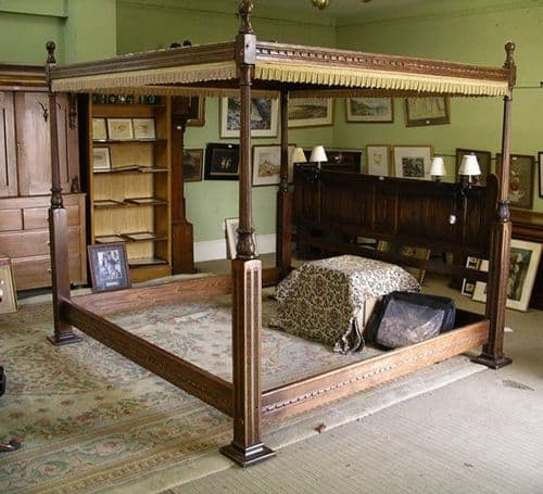 Four Poster Oak Bed by Old Charm - SOLD