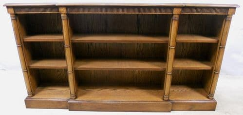 Georgian Style Mahogany Low Breakfront Open Bookcase - SOLD
