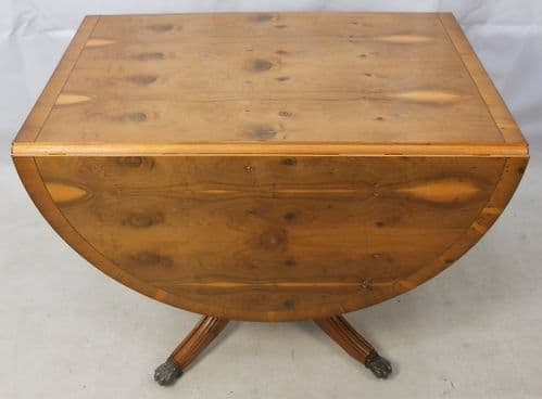 Georgian Style Yew Dropleaf Dining Table - SOLD