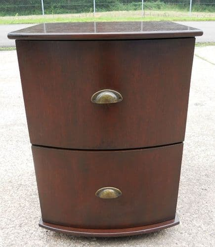Mahogany Bowfronted Small Two Drawer File Chest